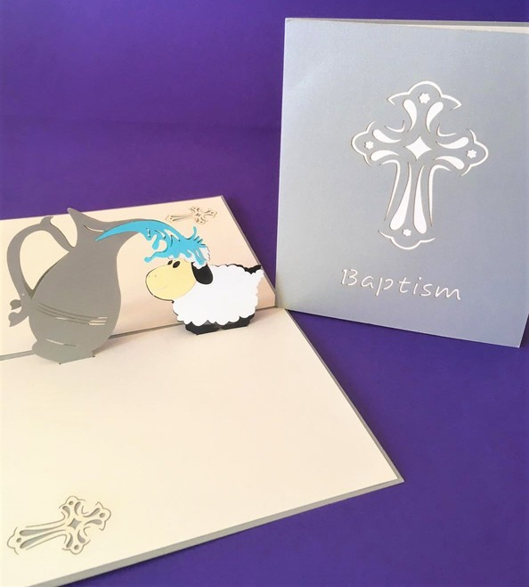 Baptism pop up card