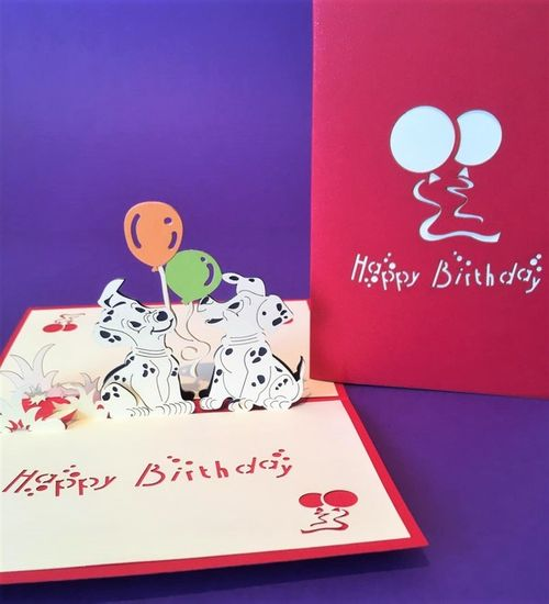 Dalmations (birthday) pop up card