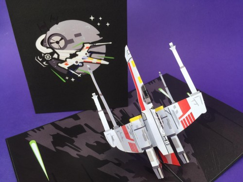 Space ship pop up card