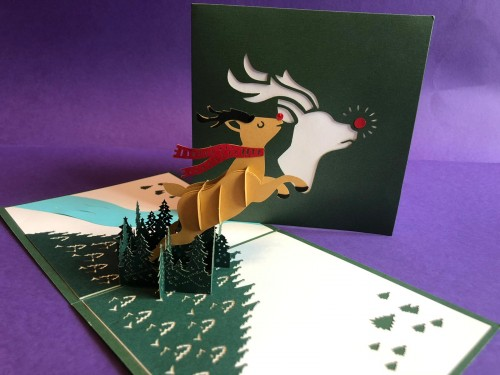 Rudolph pop up card
