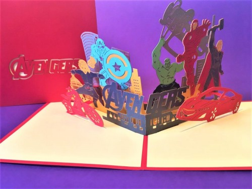 Avengers pop up card