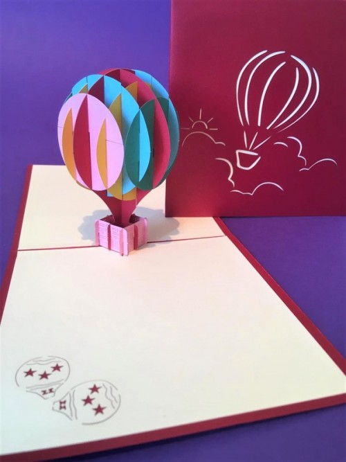 Hot Air Balloon pop up card