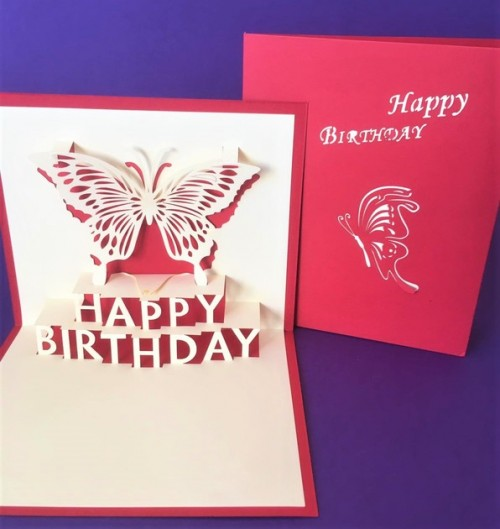 Birthday Butterfly pop up card