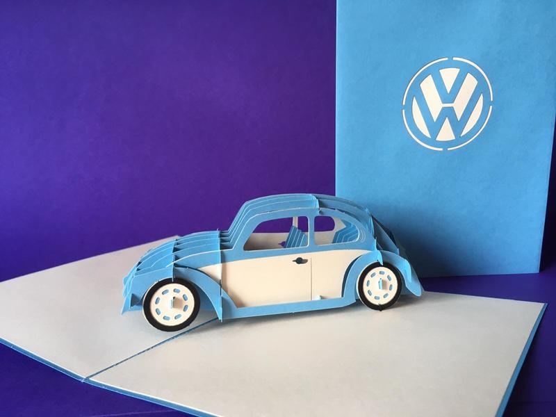 Beetle pop up card