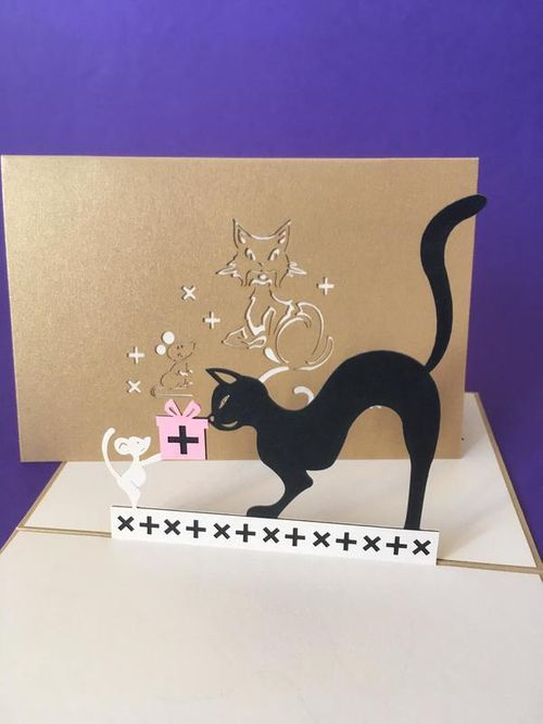 Black Cat pop up card