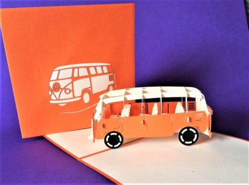 Camper Van pop up card