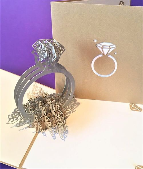 Engagement ring pop up card