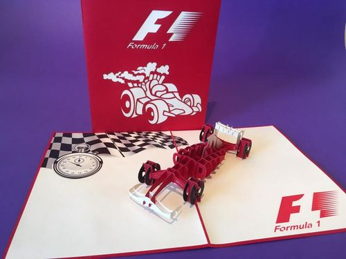 Formula 1 car pop up card