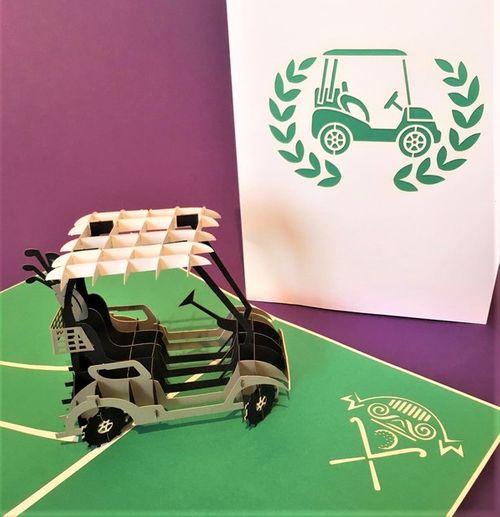 Golf Kart pop up card