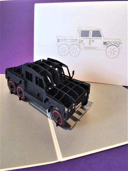 Humvee pop up card