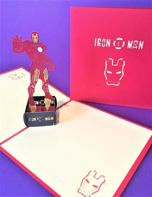 Iron Man pop up card