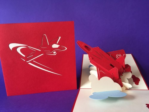 Jet Plane pop up card