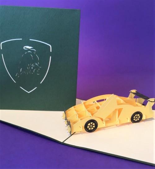 Lamborghini pop up card