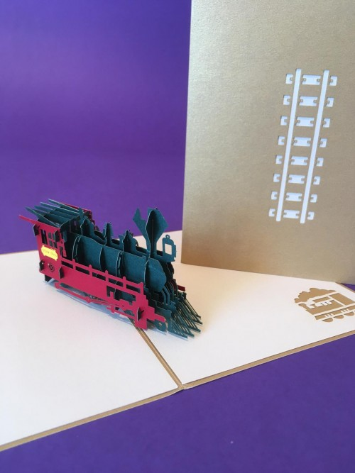 Train (medium) pop up card