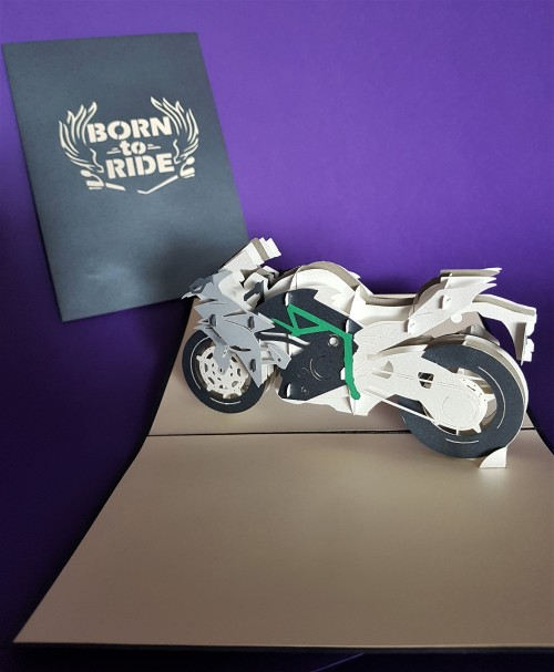 Motorbike pop up card