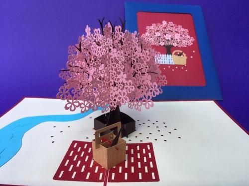 Picnic Blossom tree pop up card