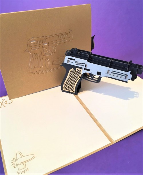 Pistol pop up card