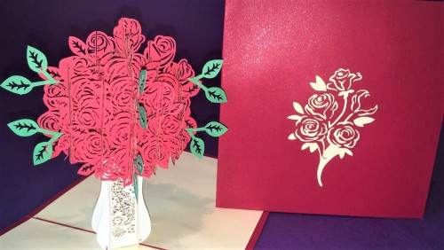 Roses pop up card