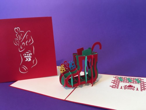 Stocking pop up card