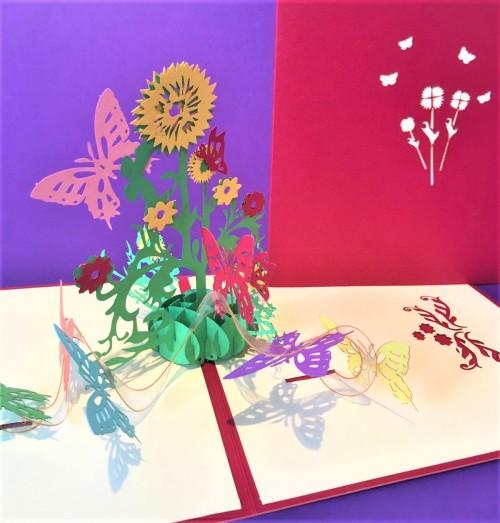 Sunflowers pop up card