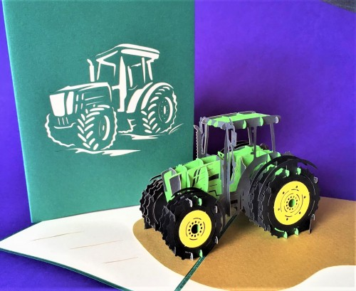 Tractor pop up card