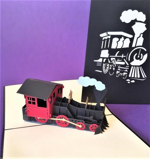 Train pop up card