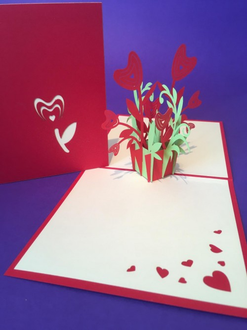 Tulips pop up card