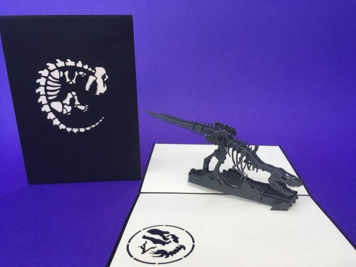 Velociraptor pop up card