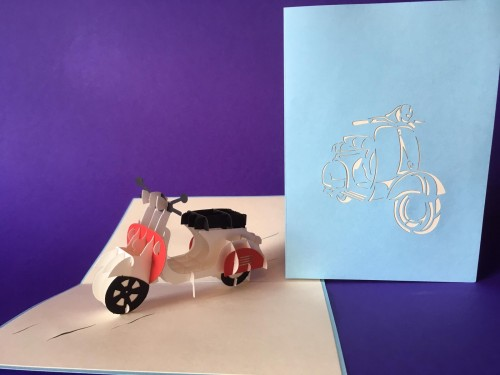 Moped pop up card