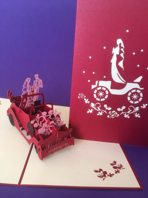 Wedding Car pop up card